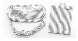 Маска для сну з бавовни Deco в смужку, з чохлом Біло-сірий (967-02)
