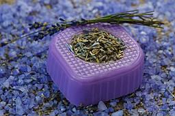 Мыло Hand Made лавандовое ручной работы с цветами 100 г (1004-02)
