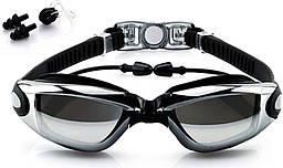 Очки для плавания Youyou со встроенными берушами Black + зажим для носа (1051-02)