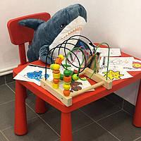 IKEA MAMMUT Детский стол прямоугольный + Детский стул