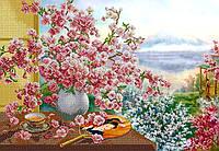Схема для вышивки бисером Букет сакуры