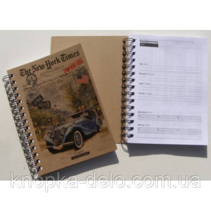 Щоденник А5, 136 листів недатований KRAFT, фото 2