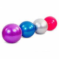 Мяч для фитнеса (фитбол) массажный 55см