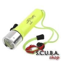 Фонарь для подводной охоты и дайвинга CREE 3W LED (питание батарейки)
