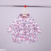 Летний детский плащик для девочки розовый SKL11-260928