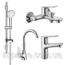 Набір змішувачів для ванни і кухні 4 в 1 kit30094