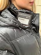 Довге чорне пальто SHIO S-9666-32, фото 5