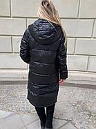 Длинное чёрное пальто SHIO S-9666-32, фото 6