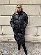 Длинное чёрное пальто SHIO S-9666-32, фото 7