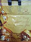 Новогодний пакет с петлевой ручкой Золото 400*420 мм, фото 2