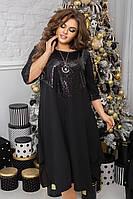 Женское свободное платье миди, больших размеров 48-62