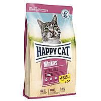 Сухой корм 10кг для стерилизованных кошек и котов птицей Happy Cat Minkas Sterilised 0,1