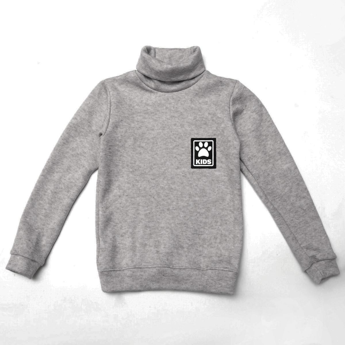 Теплый детский свитер р.104,110,116,122 SmileTime Lapki Kids, серый