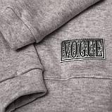 Теплый детский свитер р.104,110,116,122 SmileTime Lapki Kids, серый, фото 2