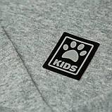 Теплый детский свитер р.104,110,116,122 SmileTime Lapki Kids, серый, фото 3