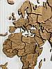 Карта мира на стену многослойная из дерева, фото 6