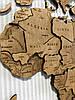 Карта мира на стену многослойная из дерева, фото 4