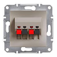 Аудиорозетка без рамки бронза Asfora, Schneider Electric [EPH5700169]