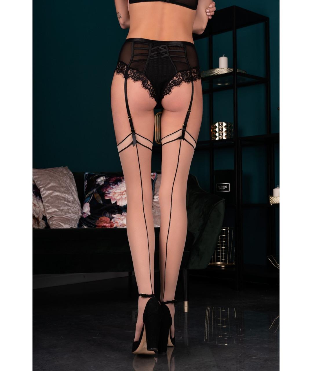 Maramet 20 den панчохи бежево - чорні Livia Corsetti Fashion