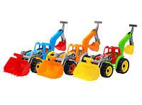 Игрушка трактор с двумя ковшами технок