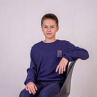 Свитер вязаный подросток р.152,158,164 SmileTime Compass, темно-синий