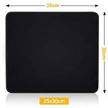 Коврик для мышки Easy Idea черный 25*30 см, фото 2