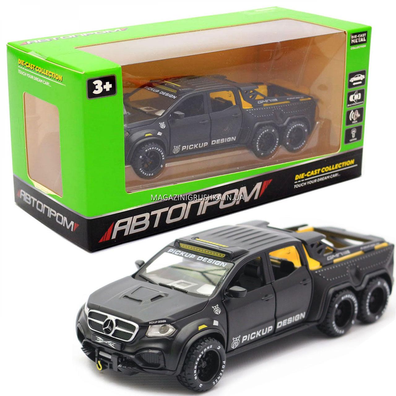 Детская машинка игровая автопром «Mercedes» (Мерседес) пикап, 20 см, свет, звук, двери открываются (7584)