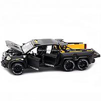 Детская машинка игровая автопром «Mercedes» (Мерседес) пикап, 20 см, свет, звук, двери открываются (7584), фото 7