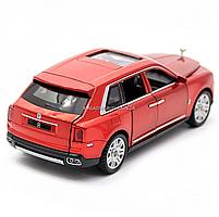 Дитяча машинка ігрова автопром «Rolls-Royce» (Роллс-Ройс) 15 см, світло, звук, двері відкриваються, червоний, фото 5