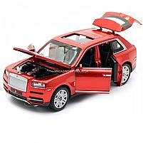 Дитяча машинка ігрова автопром «Rolls-Royce» (Роллс-Ройс) 15 см, світло, звук, двері відкриваються, червоний, фото 6