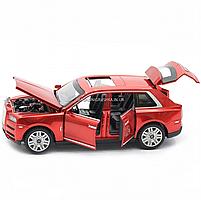 Дитяча машинка ігрова автопром «Rolls-Royce» (Роллс-Ройс) 15 см, світло, звук, двері відкриваються, червоний, фото 7