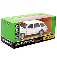 Детская машинка игровая автопром «ВАЗ 2102» 12 см, свет, звук, двери открываются, белый (7501), фото 2
