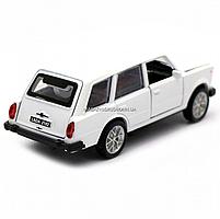 Детская машинка игровая автопром «ВАЗ 2102» 12 см, свет, звук, двери открываются, белый (7501), фото 5