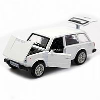 Детская машинка игровая автопром «ВАЗ 2102» 12 см, свет, звук, двери открываются, белый (7501), фото 7