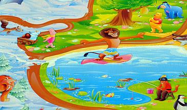 """Игровой коврик для ползания ребенка """"Мадагаскар"""" M 1200x600x8мм, фото 2"""