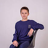 Свитер вязаный для мальчика р.128,134,140,146 SmileTime Compass, темно-синий, фото 2