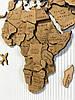 Карта мира на стену многослойная из дерева, фото 7