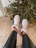 🔥 Угги угг женские зимние Ugg Mini Bailey Bow Ii Dusk розовые замшевые замша короткие низкие с бантиком бантом, фото 6