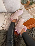 🔥 Угги угг женские зимние Ugg Mini Bailey Bow Ii Dusk розовые замшевые замша короткие низкие с бантиком бантом, фото 8
