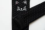 Лосины детские зимние, на меху SmileTime White Dots Kitten, черные, фото 8