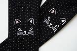 Лосины детские зимние, на меху SmileTime White Dots Kitten, черные, фото 9