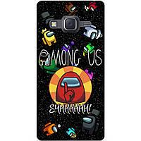 Силиконовый бампер чехол для Samsung J7 Neo Galaxy J701 с рисунком Among Us