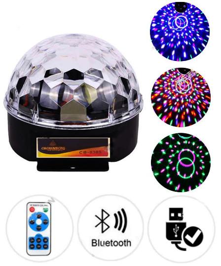 Новогодний светодиодный проектор Звездное небо + USB + пульт + bluetooth