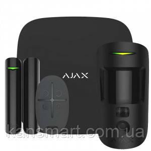 Ajax StarterKit Cam Plus комплект беспроводной сигнализации black