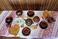 """Набор глиняной посуды на 4 персоны Калина №15 """"Чайный для беседки"""", фото 1"""