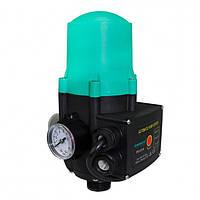 Контроллер давления SHIMGE PS-01A  контрол. давл. электрон. 1,1 кВт +манометр
