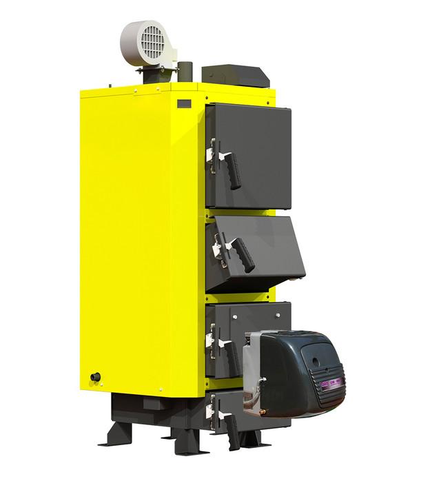 Твердотопливный котел на отработке Кронас UNIC-P 27 кВт  Фото-1