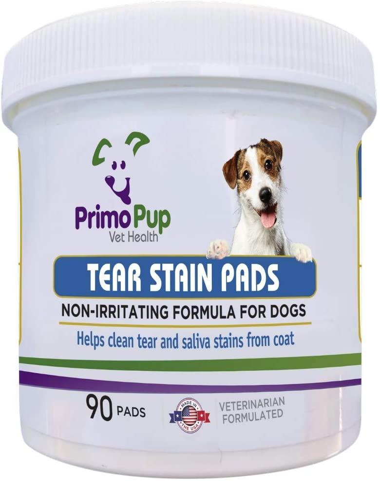 TEAR STAIN PADS Primo Pup подушечки від плям сліз і слини для собак, 90 штук