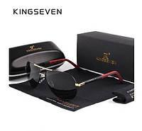Солнцезащитные очки Авиатор в классическтой оправе с поляризованными линзами K725 KINGSEVEN Италия