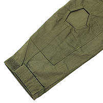 Тактическая рубашка Lesko A655 Green M (32 р.) кофта с длинным рукавом камуфляжная армейская для военных, фото 3
